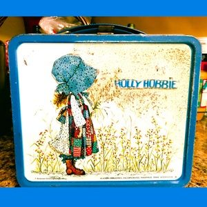 VINTAGE 1968 HOLLY HOBBIE Metal LUNCHBOX & THERMOS